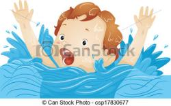 Drown clipart Drowning Cartoon
