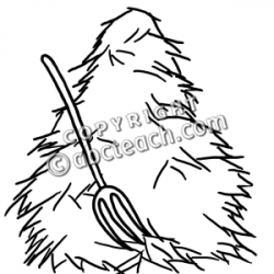 Haystack clipart black and white