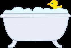 Bathtub clipart outline