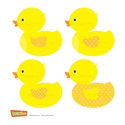 Drawn duckling yellow duck