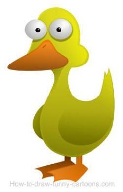 Duck clipart thin