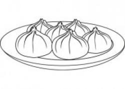 Dumpling clipart