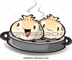 Dumpling clipart cartoon
