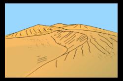 Sand clipart sand dune