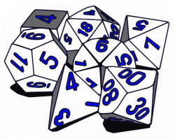 Dungeons & Dragons clipart d20