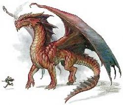 Dungeons & Dragons clipart red dragon