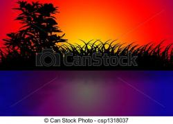 Dusk clipart beach sunset