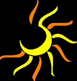 Dusk clipart half sun