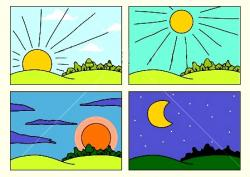 Places clipart morning afternoon evening