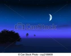 Dusk clipart night moon
