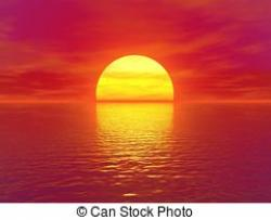 Dusk clipart ocean sunset