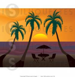 Dusk clipart palm tree sunset