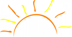 Dusk clipart rising sun