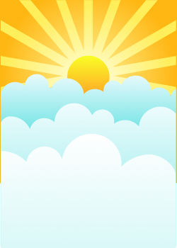 Heaven clipart sun cloud