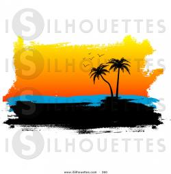 Dusk clipart tropical island
