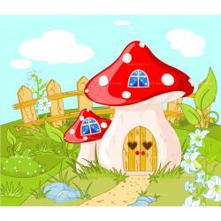 Dwarf clipart mushroom