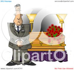 Dying clipart funeral director