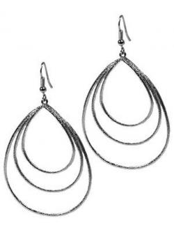 Earrings clipart black and white