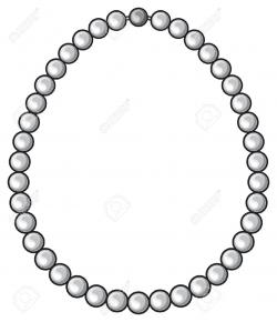 Jewelry clipart pearl necklace