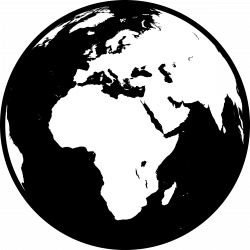 Europe clipart black and white