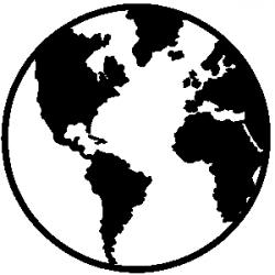 Geography clipart black and white