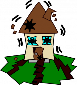 Disaster clipart earthquake cartoon