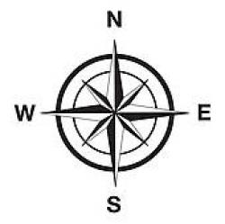 Compass clipart silhouette