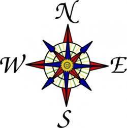 East clipart simple compass