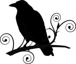 Dead clipart raven