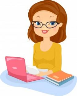 Editingsoftware clipart female writer