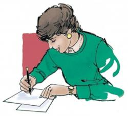 Editingsoftware clipart writer woman
