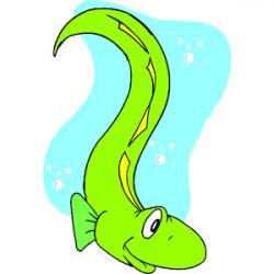 Green clipart eel