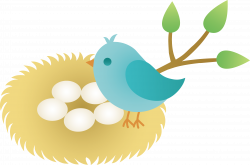 Bird's Nest clipart cartoon