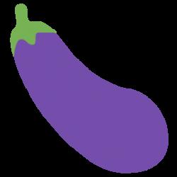 Eggplant clipart emoji