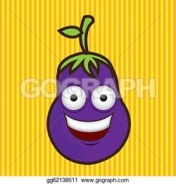 Eggplant clipart eye