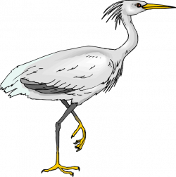 Great Blue Heron clipart egret