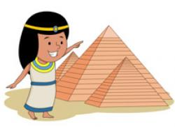 Egyptian Queen clipart egyptian pyramid