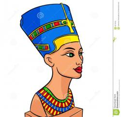 Egyptian Queen clipart cartoon