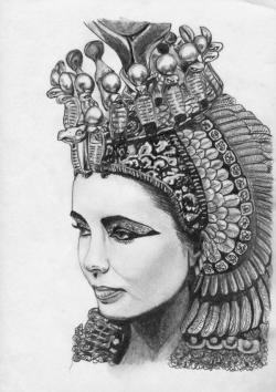 Drawn figurine cleopatra