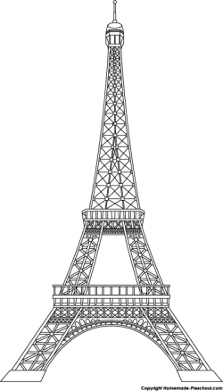 Silver clipart eiffel tower