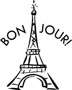 France clipart black and white