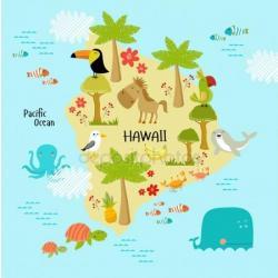 Eiland clipart hawaii map