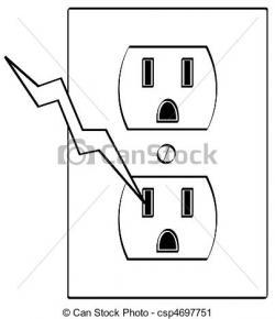 Plug clipart grounded