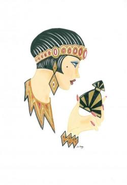 Elegance  clipart 1920s fashion
