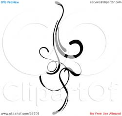 Curl clipart design element