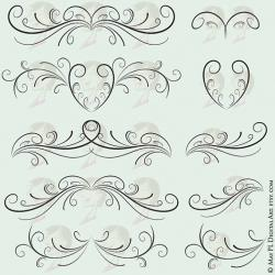 Curl clipart design pattern