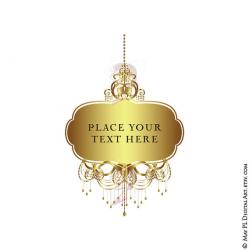 Elegance  clipart gold chandelier