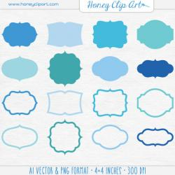 Elements clipart blue graphic banner