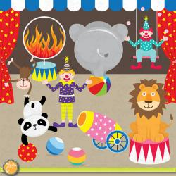 Elements clipart circus