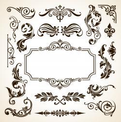 Gothc clipart floral design